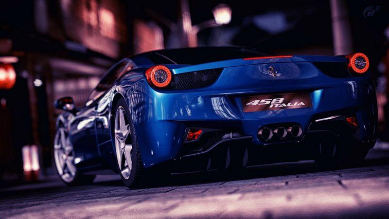 蓝色法拉利458高清壁纸