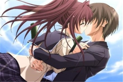 动漫亲吻图片大全唯美伤感 你是我春风十里后的大梦一场