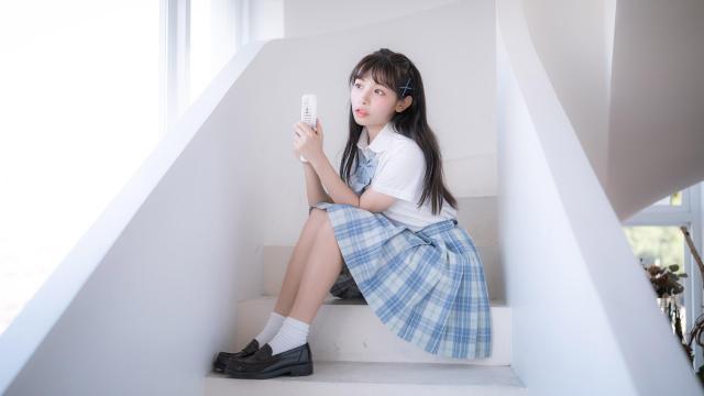 阳光少女jk礼服清新甜蜜元气写真