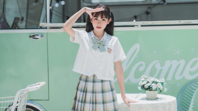阳光活力少女jk制服小清新写真