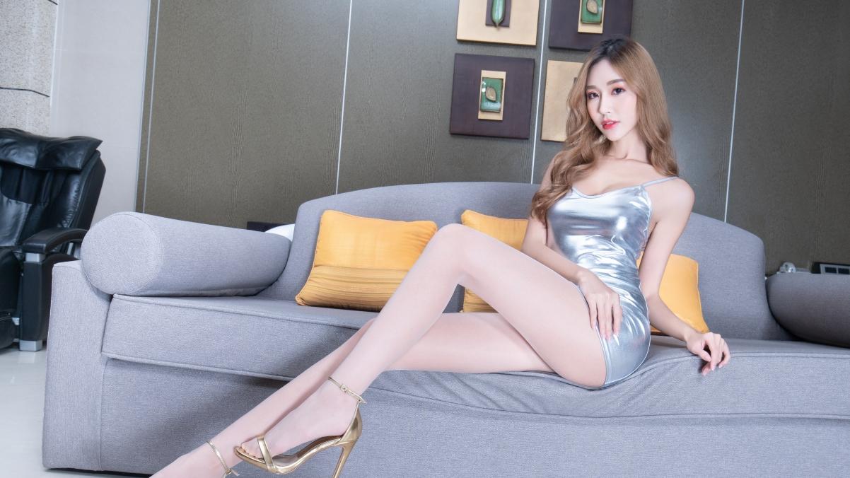 腿模Rubis 大波浪卷发美女 连衣包臀裙美腿屁股4k壁纸3840×2160