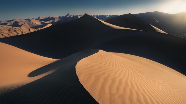 荒芜沙漠意境风景摄影