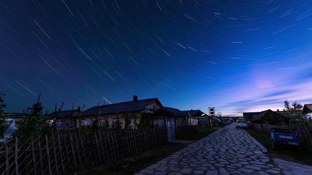 英仙座流星雨浪漫美景摄影