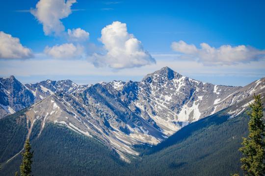 加拿大班夫国家公园秀丽自然风光