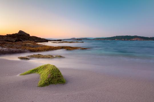 西班牙加利西亚最美的海滩风光