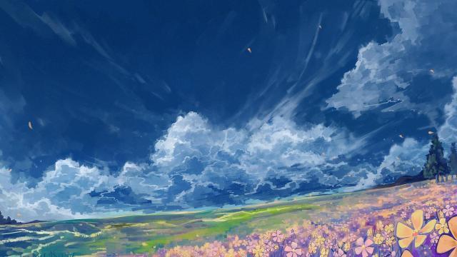 日系高清动漫风景手绘插画