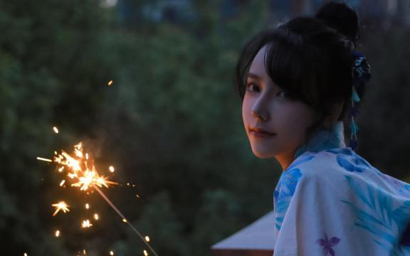 夏季炊火和服玉人唯美诱人可爱写真