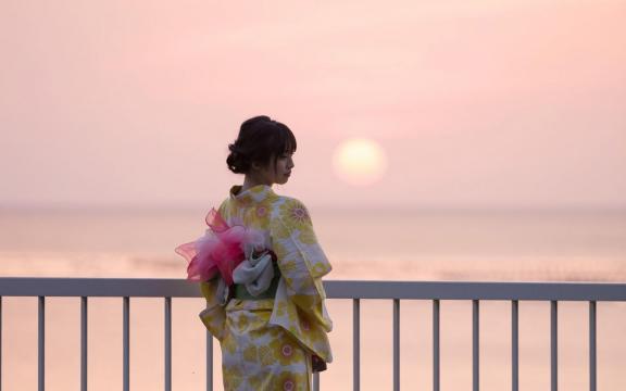 冷艳时间的日系和服美少女写真