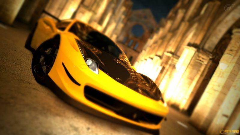 唯美黄色跑车高清汽车壁纸