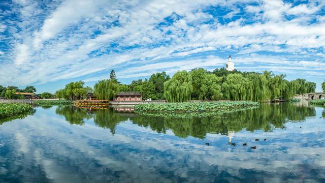 国庆节旅游北海公园风景写真