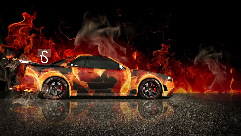 火焰汽车高清桌面壁纸