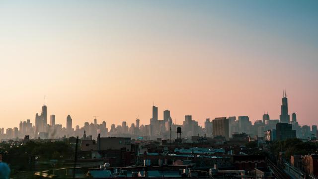 繁华都市芝加哥的唯美建筑风景