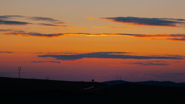 最美的草原日落