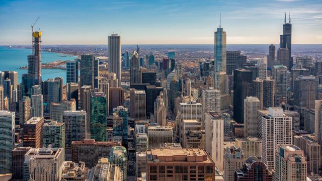 美国芝加哥繁华城市风景
