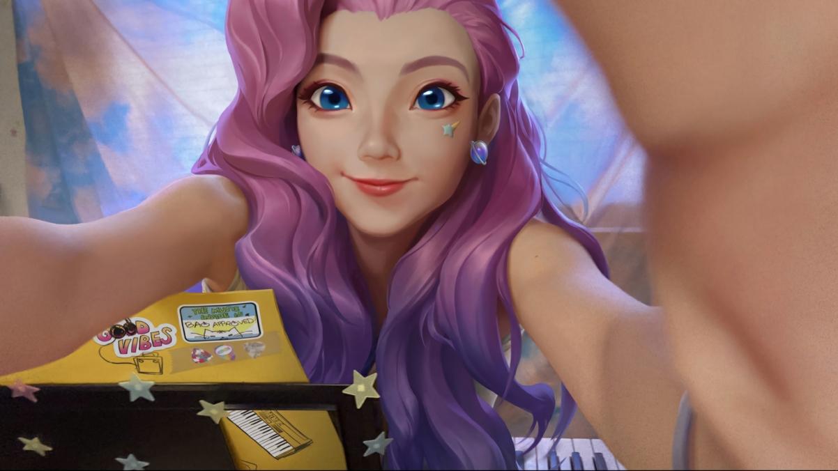 lol紫发美丽女孩Seraphine英雄联盟4k壁纸