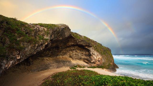 唯美绚丽彩虹风光