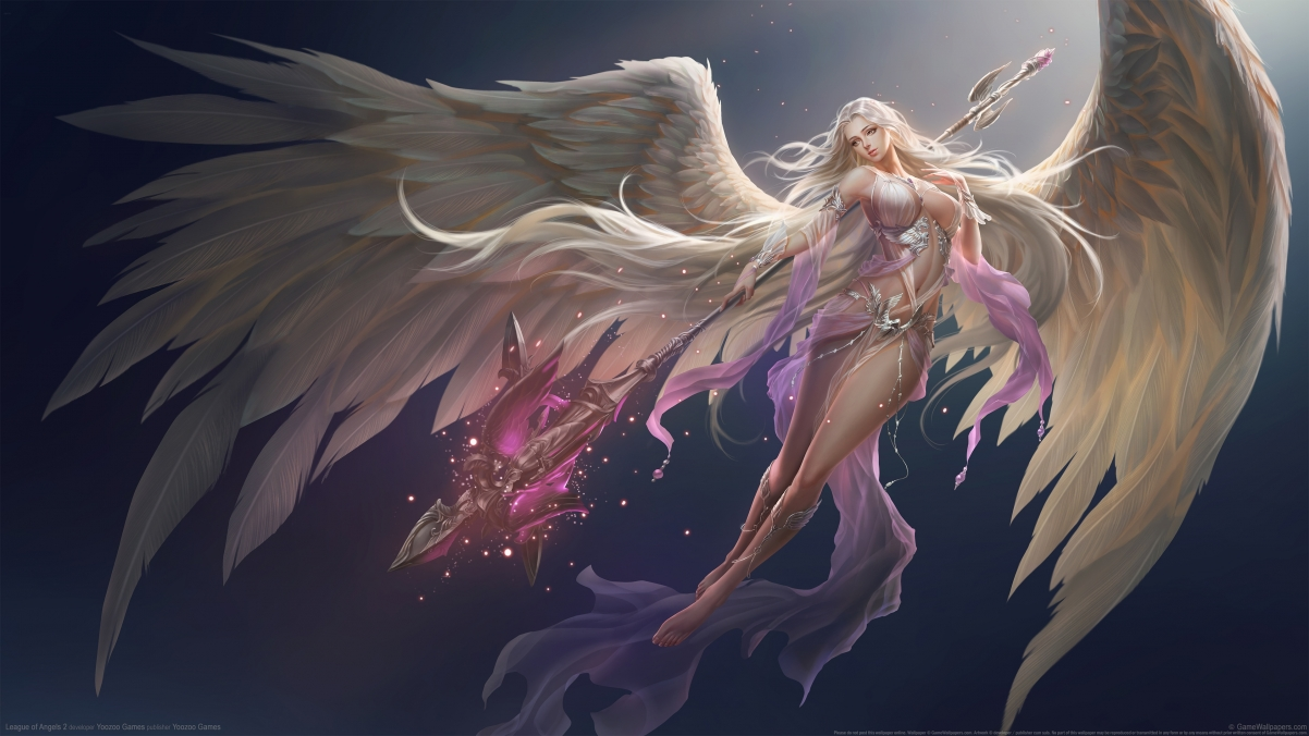 《League of Angels 2》女神联盟2命运女神4k壁纸