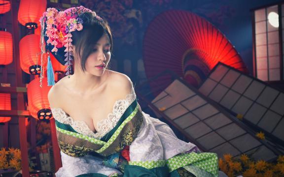 性感妖娆的日本和服玉人私房写真