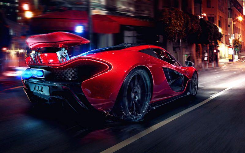 红色迈凯轮超跑高清壁纸
