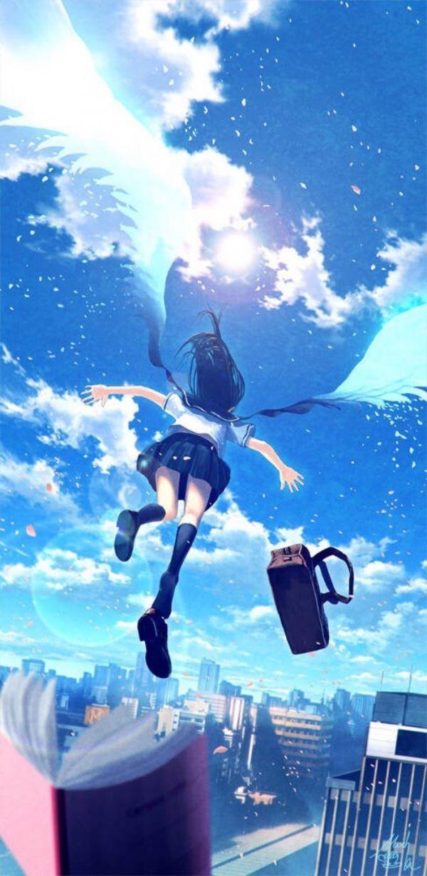 动漫少女图片唯美梦幻蓝色最新版 梦幻图片唯美蓝色的女孩