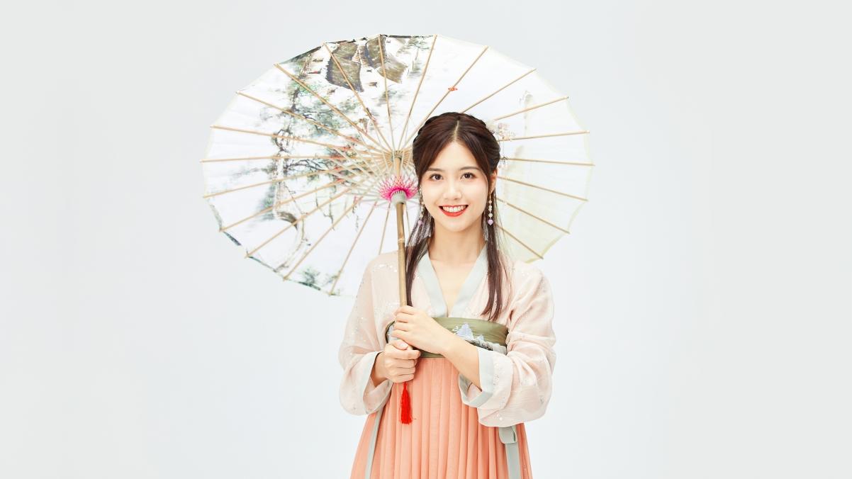 古风汉服美女 纸伞 4k美女壁纸3840×2160
