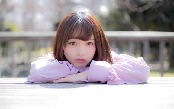 日本纯洁温顺长发玉人三田寺円室外写真