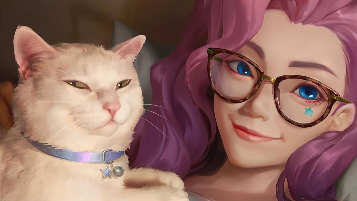 LOL英雄聯盟KDA The Baddes 塞爾菲婭 美女和貓4k壁紙
